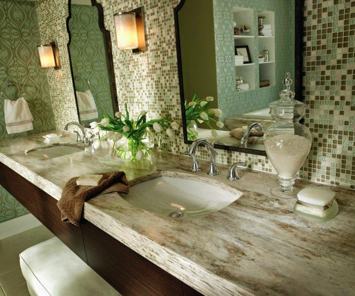 Luxurious bathroom Corian countertops - for a modern classic and elegant look