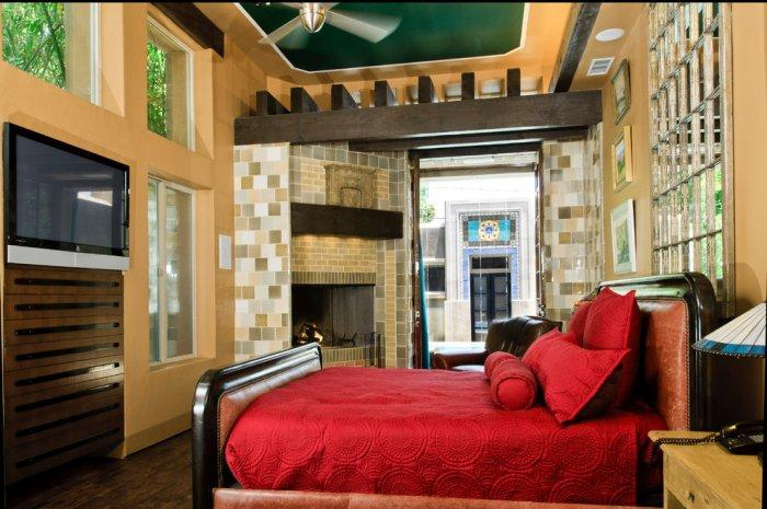 Master bedroom fireplace 1 - inside a contemporary home