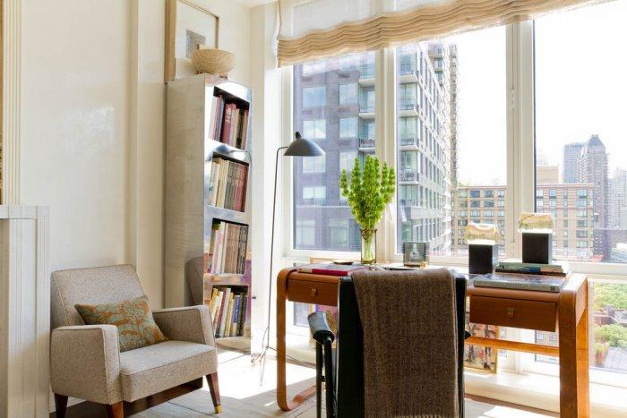 Metal bookcase design - in a small urban condo