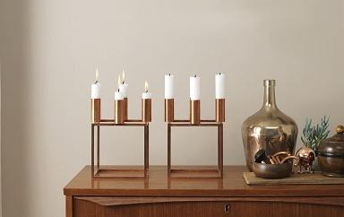 Metal candleholders - for three or four candles