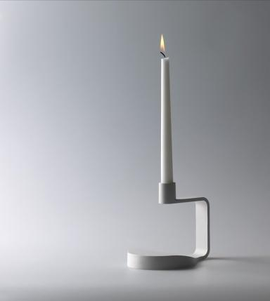 Minimalist candleholder - in white color