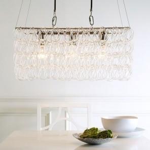 Modern decorative pendant in kitchen