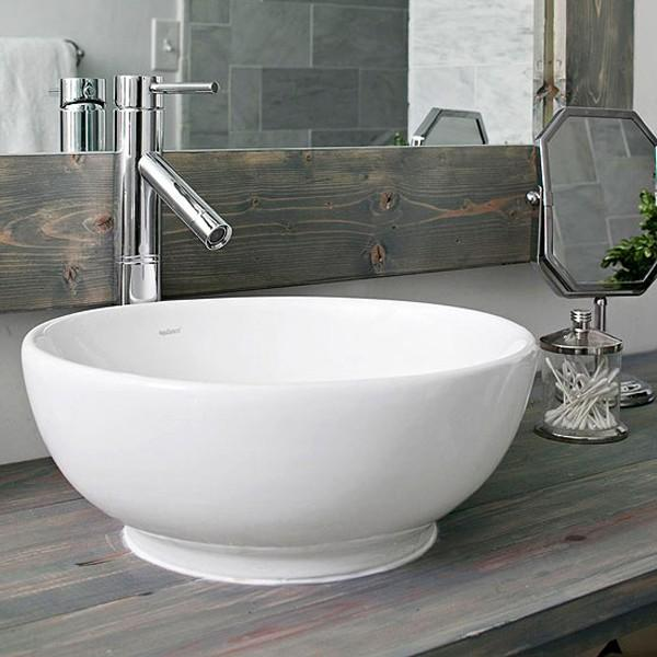 Modern bathroom bowl - with nickel faucet