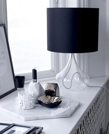 Modern candleholder - for black candle