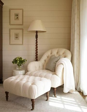 Modern decor idea 16 - traditional armchair with stool