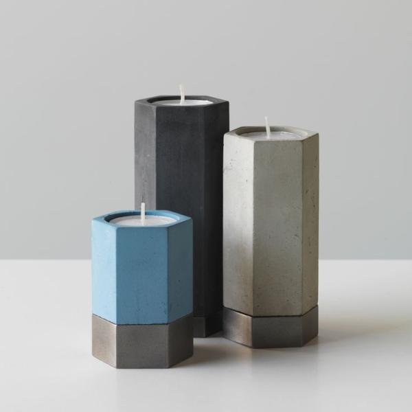Modern decor idea 3 - minimalist candleholders