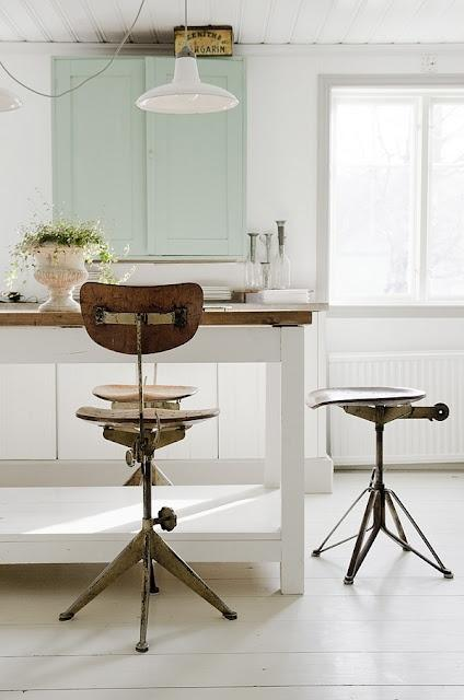 Modern decor idea 9 - industrial bar stool