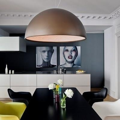 Modern decor idea - giant brown pendant