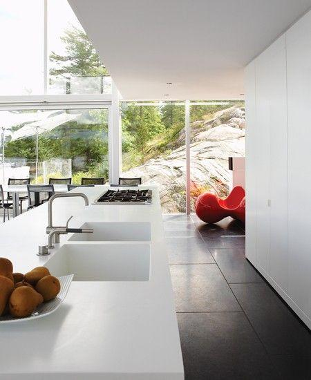 Modern Kitchen Countertops: Corian Countertops – In Your Bathroom Or Kitchen?