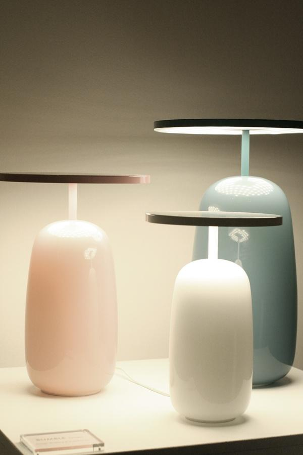 Modern lamp base - in pale colors