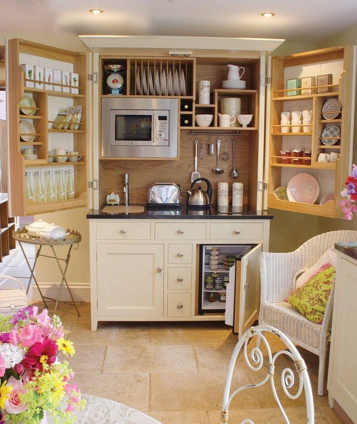 Modular kitchen - with a lot of storage space