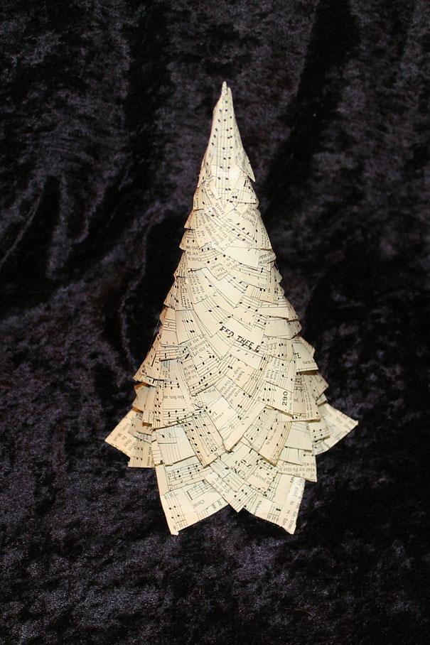 Music Christmas Tree Decorations Music Paper Christmas Tree