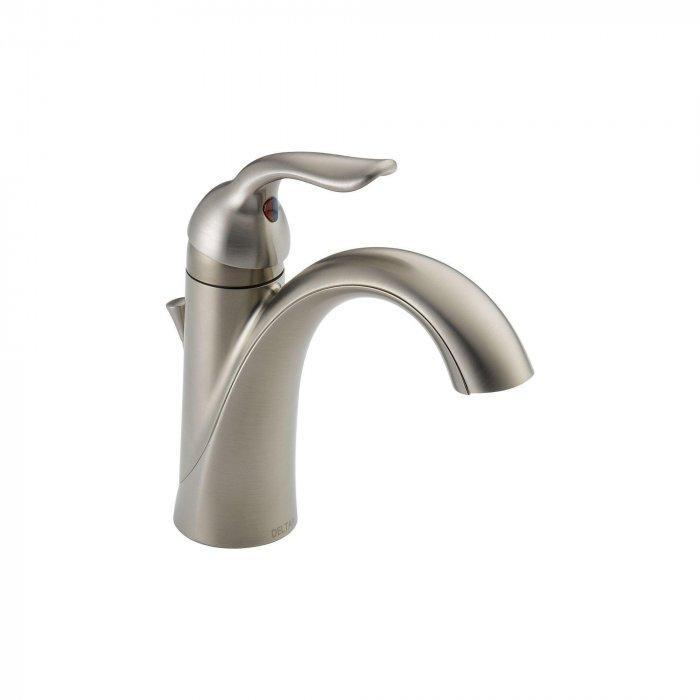 NIckel bathroom faucet - with vintage curvers