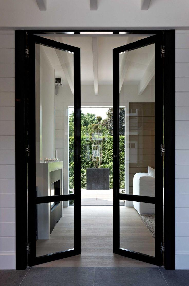 Narrow glass hallway door - leading outside the house