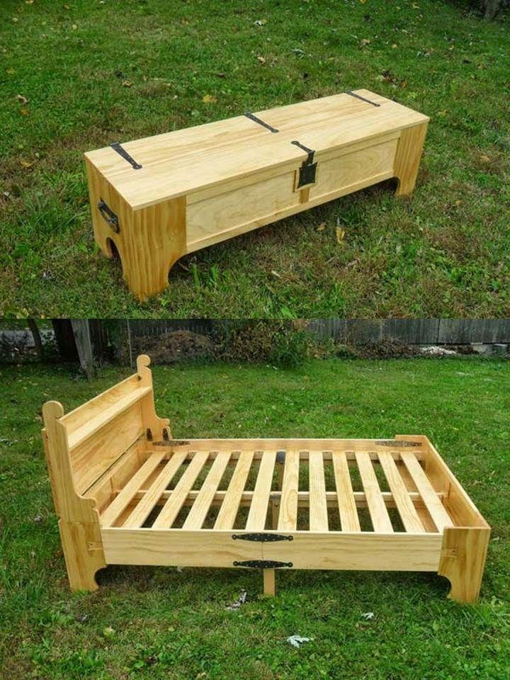 pallet bed frame 1 flexible and folding
