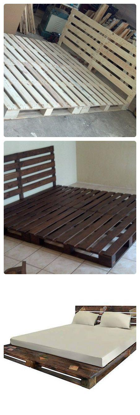 Pallet beds ideas for frames and bases founterior for How do you make a pallet bed