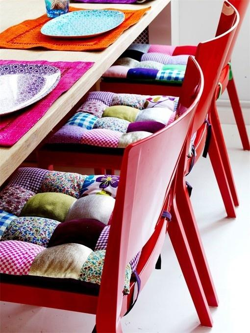 Patterned chair pads - for modern interior