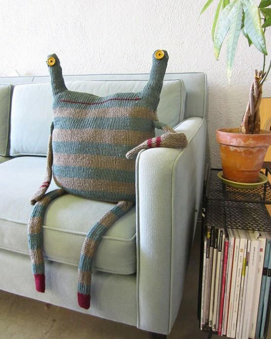 Pillow cover design 1 - looking like an alien