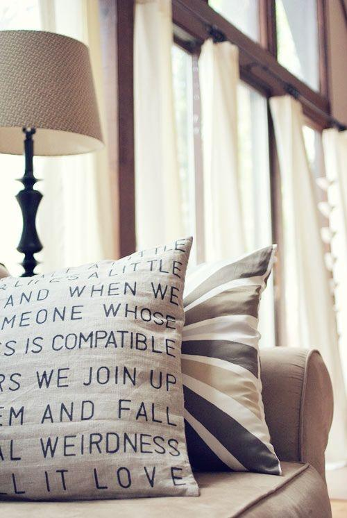 Pillow cover design 11 - with random writings