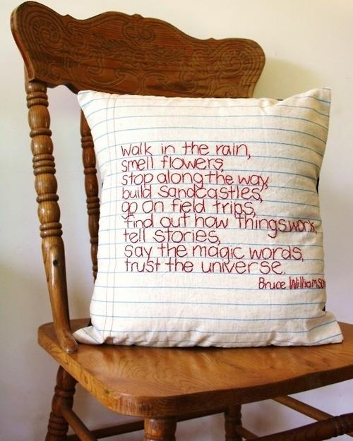 Pillow cover design 3 - like a notebook