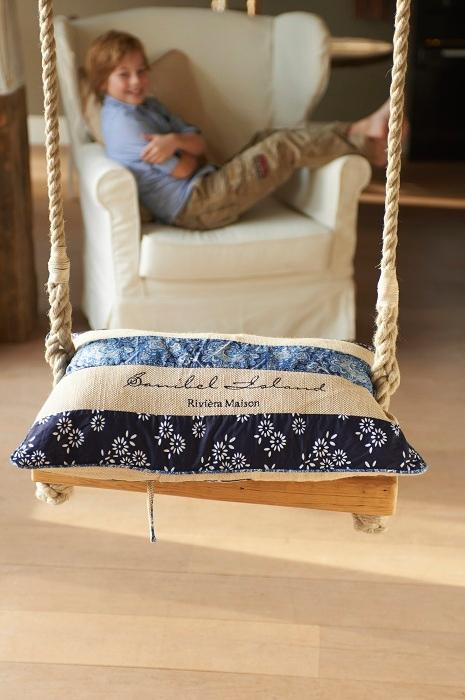 Pillow cover design 5 - on a indoor swing