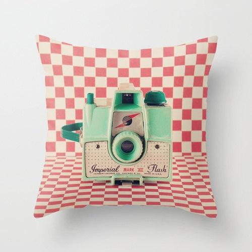 Pillow cover design 6 - like a vintage camera
