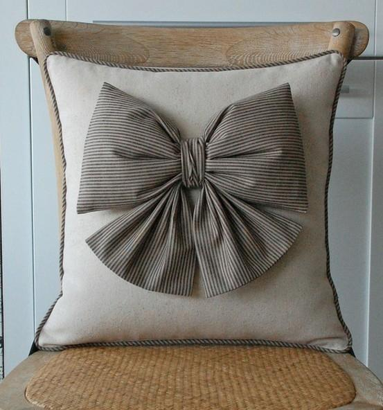 Pillow cover design 7 - with stylish ribbon