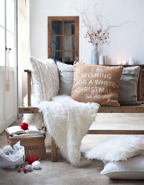 Pillow cover design 8 - with Christmas writing