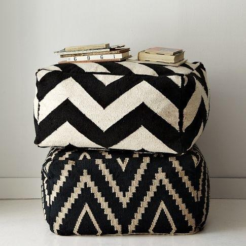 Pillow cover design - in black and white stripes