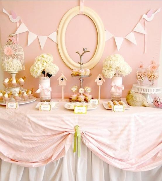 Pink shower theme - and mirror