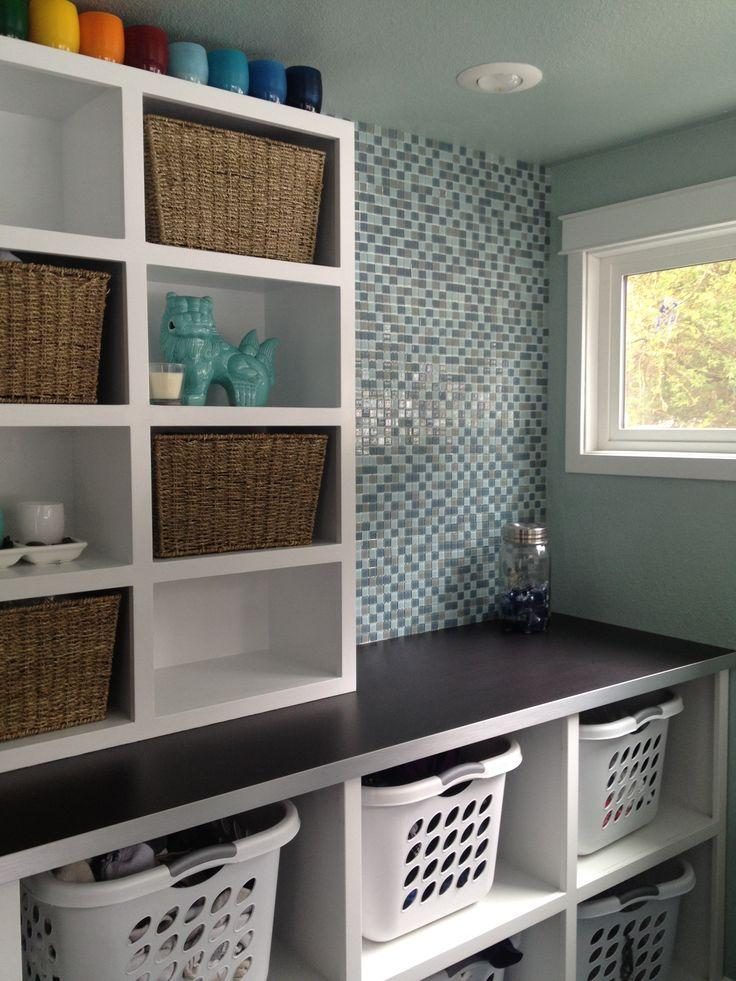 Laundry Room Ideas For Baskets Cabinets And Racks
