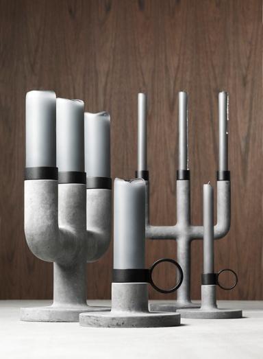 Raw candleholder - for interesting design
