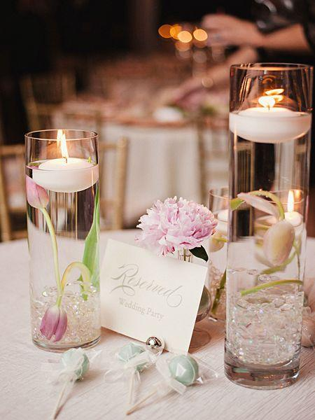 Romantic Table Decoration 3   With Floating Candles In Water