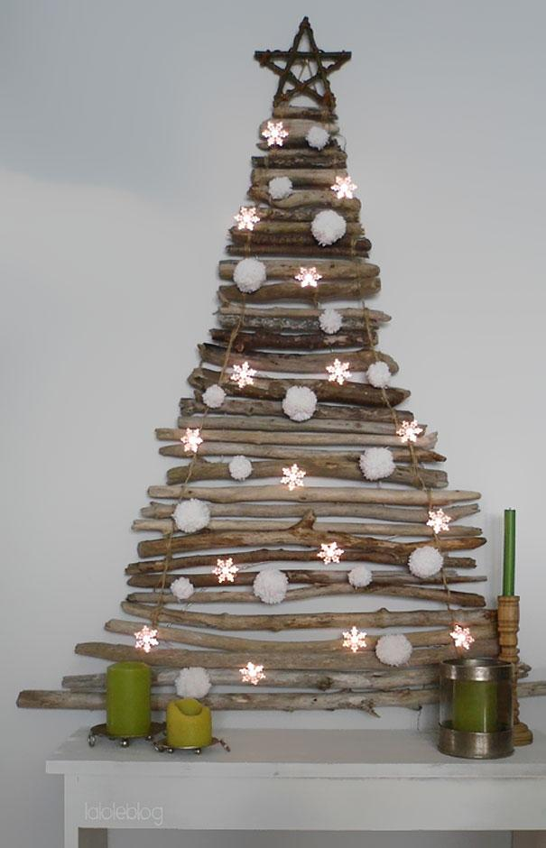 Rustic Christmas tree - made of old branches
