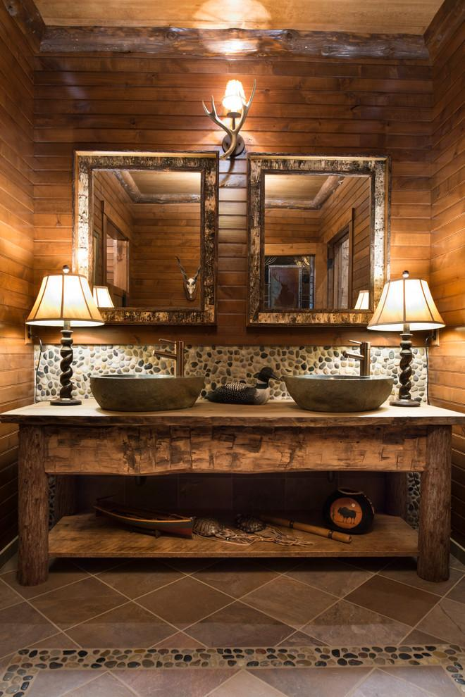 Rustic bathroom 10 - with double sink vanity