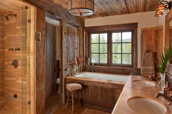 Rustic bathroom 13 - inside a mountain lodge