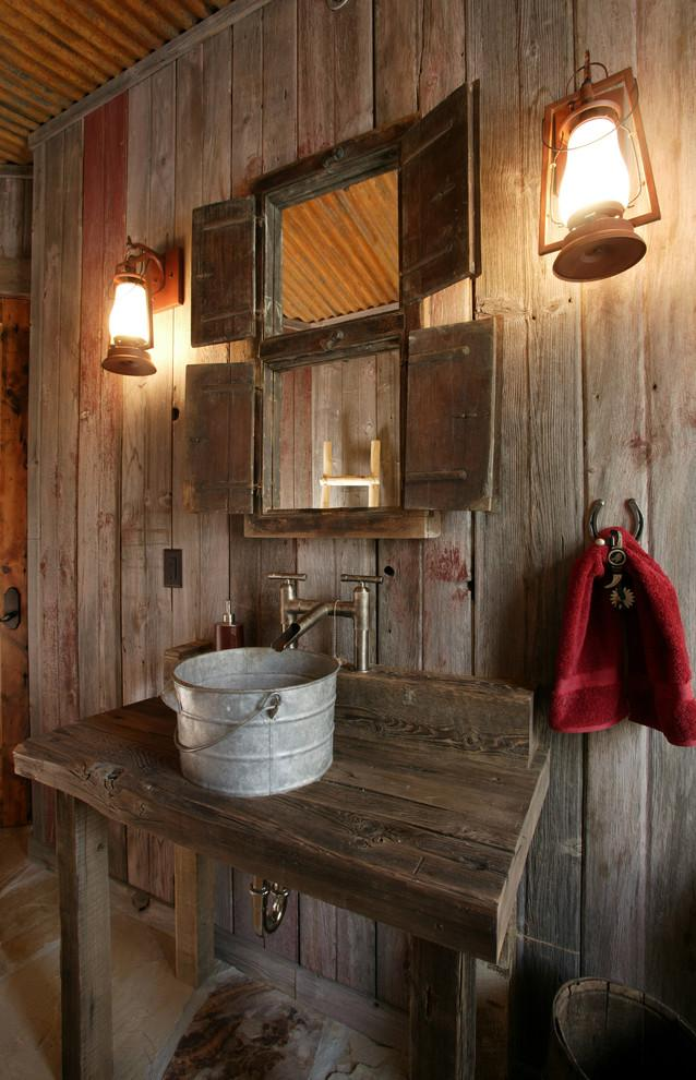 Rustic bathroom 14 - and bucket sink
