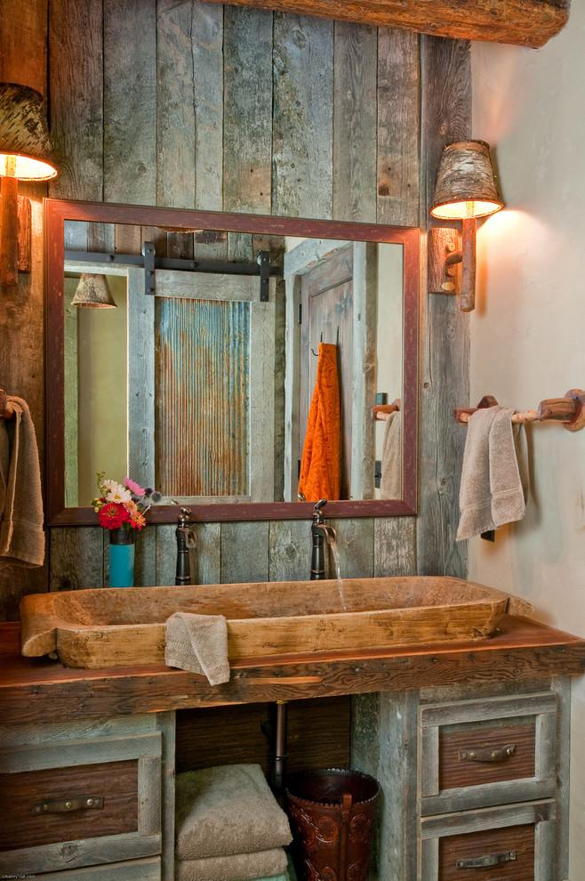 Rustic bathroom 16 - with wooden sink