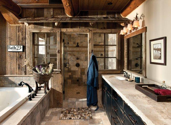 Rustic bathroom 7 - with spacious interior