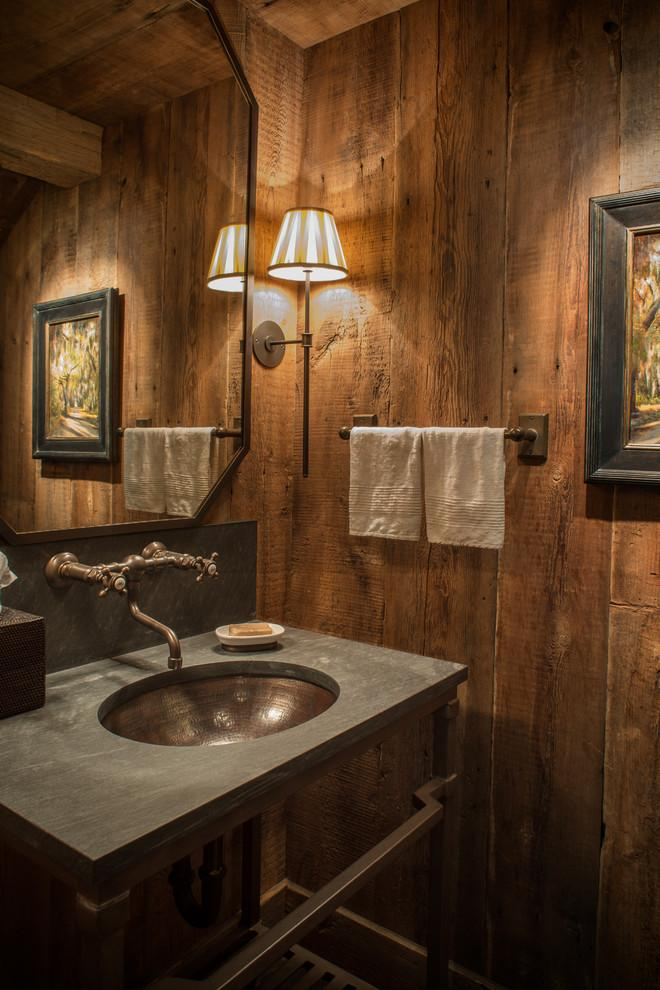 Rustic bathroom 8 - with stylish small vanity