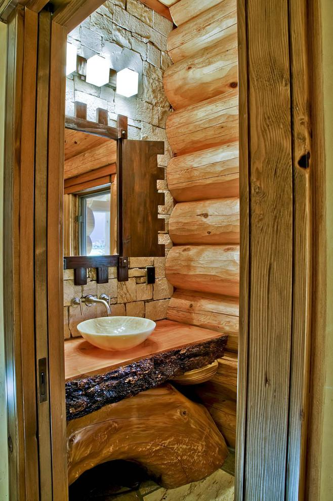 Rustic bathroom 9 - with round bowl