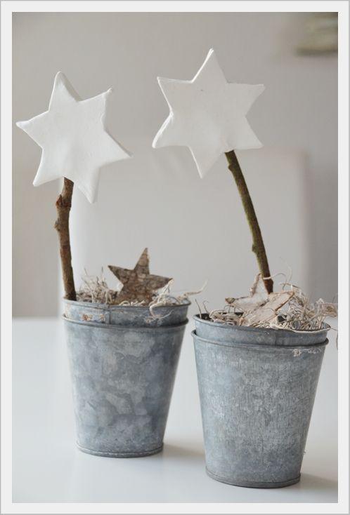 Scandinavian Christmas buckets - with stars