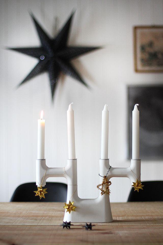 Scandinavian Christmas candleholder - with stylish design