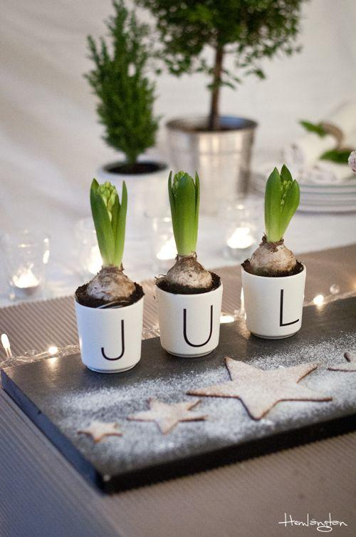 Scandinavian Christmas centerpiece - for dining table