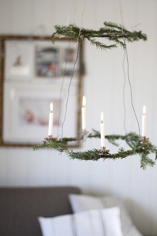 Scandinavian Christmas pendant - with candles