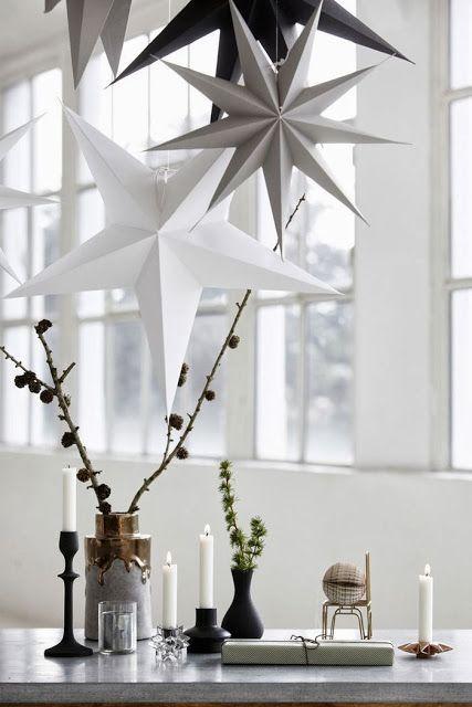 Scandinavian Christmas stars - made of paper