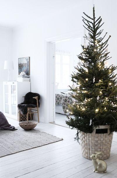Scandinavian Christmas tree - in living room