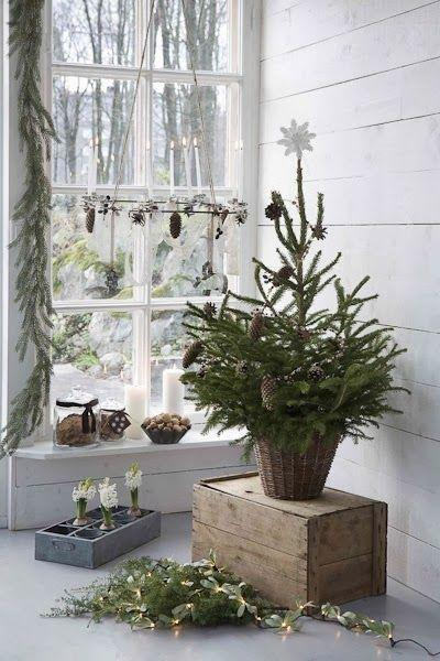 Scandinavian Christmas window - with lots of decals