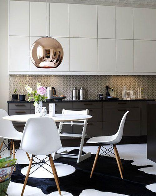 Scandinavian modern lamp shade - inside a swedish loft apartment