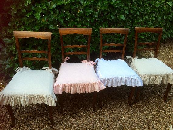 Shabby chic chair pads - for outdoor use